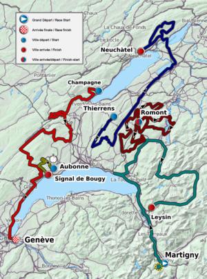 2011 Tour de Romandie - Map of the race