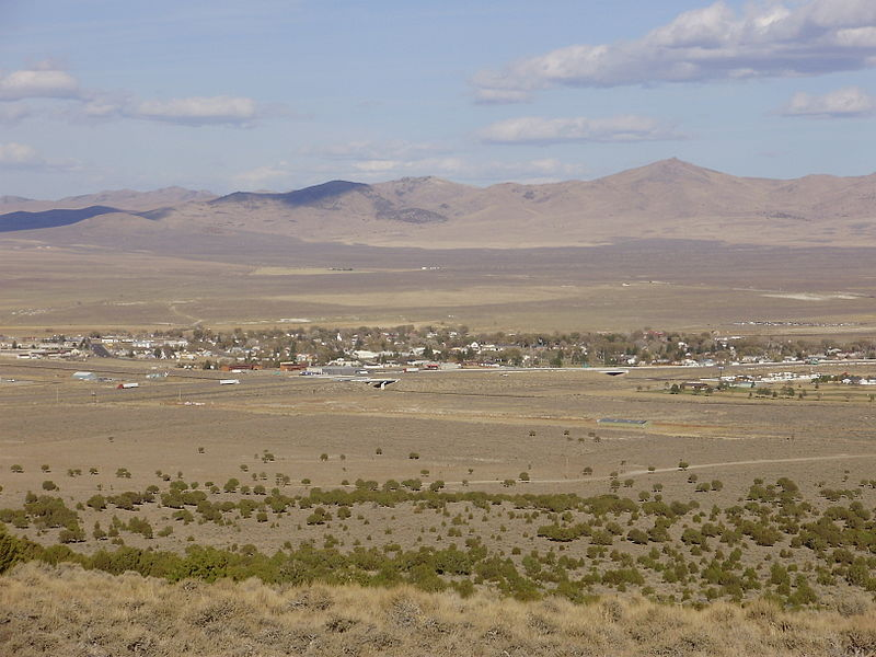 File:2012-10-20 View of Wells in Nevada from Angel Lake Road (Nevada State Route 231).jpg