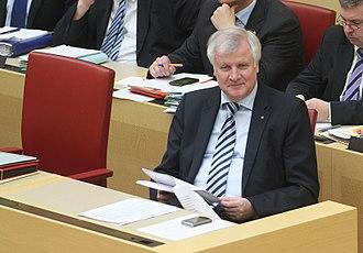 Horst Seehofer - Seehofer, seated in the Landtag of Bavaria in 2013