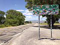 2014-07-18 12 22 25 First Extraterrestrial Highway sign along northbound Nevada State Route 375 in Crystal Springs, Nevada.JPG
