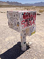 2014-07-18 12 50 13 Steve Medlin mailbox along Nevada State Route 375 about 19.4 miles north of Nevada State Route 318 in Lincoln County, Nevada.JPG