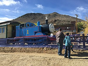 Virginia and Truckee Railroad - Visiting replica of Thomas the Tank Engine