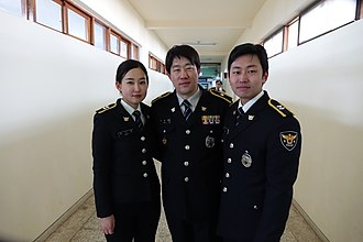 National Police Agency (South Korea) - South Korean police officers in 'Class A' uniform, 2015