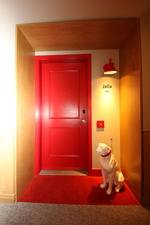 Virgin Hotels Chicago - A pet friendly room with its sculptural marking