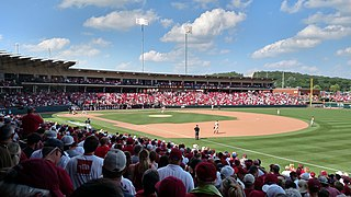 Baum–Walker Stadium Baseball park at University of Arkansas