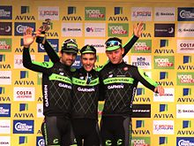 2015 Tour of Britain - winning team Cannondale Garmin.JPG