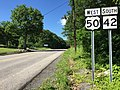 2016-06-18 10 07 48 View west along U.S. Route 50 and south along West Virginia State Route 42 (George Washington Highway) in Skyline, Mineral County, West Virginia.jpg