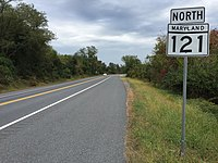 2016-10-13 12 09 04 View north along Maryland State Route 121 (Clarkburg Road) at Maryland State Route 117 (Barnesville Road) in Boyds, Montgomery County, Maryland.jpg