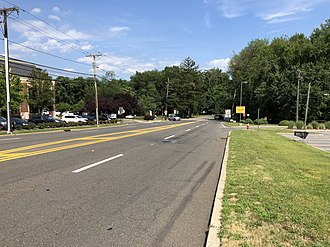Emerson, New Jersey - View east along County Route 502 in Emerson
