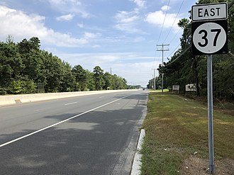 Manchester Township, New Jersey - Route 37 eastbound in Manchester Township