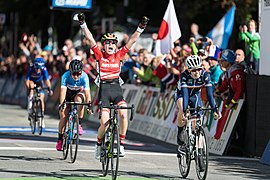 20180927 UCI Road World Championships Innsbruck Women Juniors Road Race Laura Stigger 850 0233.jpg