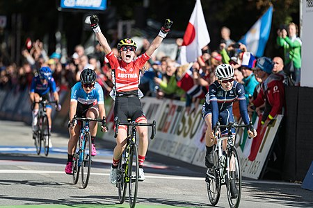 20180927 UCI Road World Championships Innsbruck Women Juniors Road Race Laura Stigger 850 0233.jpg