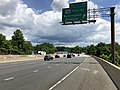 2019-05-27 12 18 07 View north along the inner loop of the Capital Beltway (Interstate 495) at Exit 39 (Maryland State Route 190-River Road, Washington, Potomac) on the edge of Potomac and Cabin John in Montgomery County, Maryland.jpg