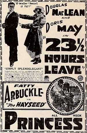 23 1/2 Hours' Leave - Newspaper advertisement