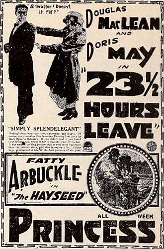 23 1/2 Hours' Leave - Newspaper advertisement