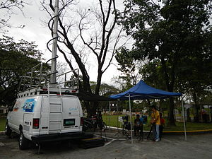 Saksi - The crew at James B. Reuter wake (Ateneo de Manila University).