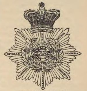 32nd (Cornwall) Regiment of Foot - Badge of the 32nd (Cornwall) Regiment of Foot