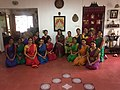 3 Generation together - Guru Padmasri Chitra Visweswaran, Dr Lakshmi Ramaswamy and her students of Sri Mudhraalaya (2018).jpg