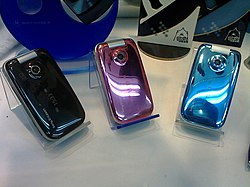 3 colors of Sony Ericsson Z610i 20070627.jpg