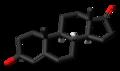 4-Dehydroepiandrosterone 3D skeletal.png