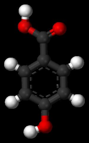 4-Hydroxybenzoic acid - Image: 4 Hydroxybenzoic acid 3D balls