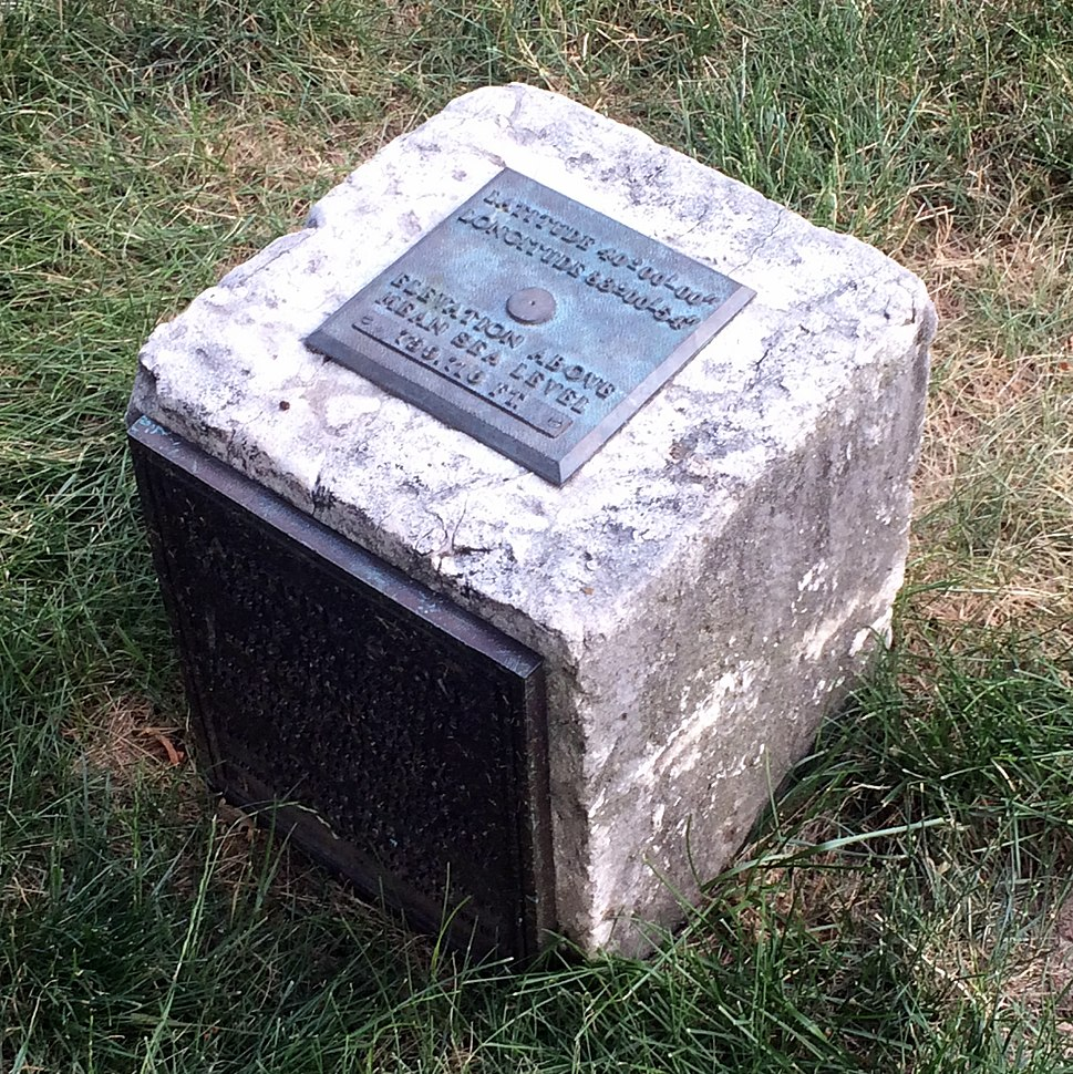 40th parallel marker at The Ohio State University (Columbus, Ohio)