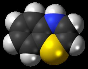 Benzothiazine - Image: 4H 1,4 benzothiazine 3D spacefill