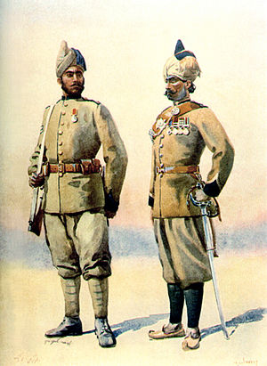 12th Frontier Force Regiment - Image: 57 (9) & 53 Sikhs (5)