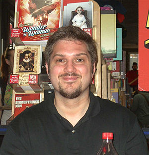 Christos Gage - Gage at a signing at Midtown Comics Times Square, June 21, 2010