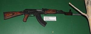 English: Soviet AK-47 Kalashnikov assault rifl...