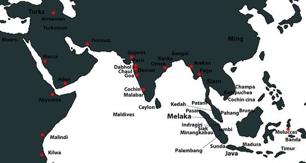 Map of 15th century Malacca and its contemporaries. 80LangMap002.jpg