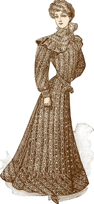 Peignoir - A peignoir c. 1906