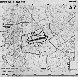 Azeville Airfield - Map of USAAF Advanced Landing Ground A-7 Azeville Airfield, France