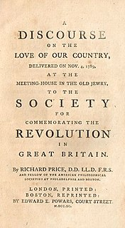 <i>A Discourse on the Love of Our Country</i>