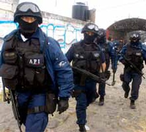 Federal Ministerial Police - AFI agents in Michoacán