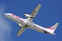 ATR 72 při vzletu