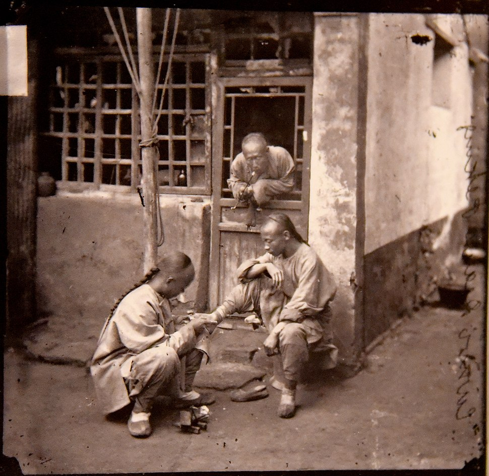 A Pekingese chiropodist. John Thomson. China,1869. The Wellcome Collection, London