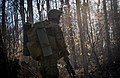 A U.S. Marine Corps officer with Bravo company, The Basic School (TBS), covers his sector during a patrol to ambush field exercise at Camp Barrett, Marine Corps Base Quantico, Va., March 13, 2014 140313-M-RO295-272.jpg