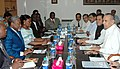 A delegation headed by the Minister of Foreign Affairs and International Cooperation of the Democratic Republic of Congo, Mr. Raymond Ramazani Baya meeting with the Union Minister for Mines, Shri Sis Ram Ola.jpg