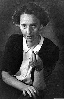 A portrait of national poetess Lea Goldberg. D507-061.jpg