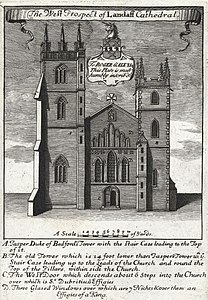 A west prospect of Landaff cathedral (1129874).jpg