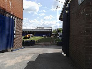 Edgeley Park - Maintenance work at Edgeley Park, 17 May 2010