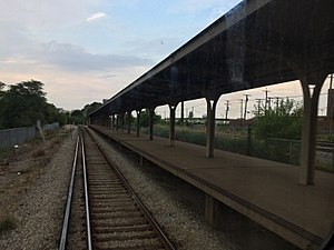Central station (CTA Congress Line) - The abandoned  Central station as of July 2017