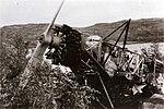 Abandoned RNoAF Fokker C.V-E after fighting in Narvik.jpg