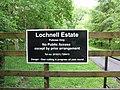 Access sign - Lochnell Estate - geograph.org.uk - 1530149.jpg