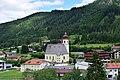 Achenkirch - Pfarrkirche hl Johannes der Täufer mit Friedhof und altem Widum - I.jpg