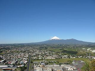 New Plymouth City in Taranaki, New Zealand