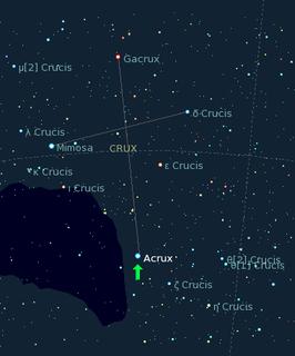 Acrux star in the constellation Crux