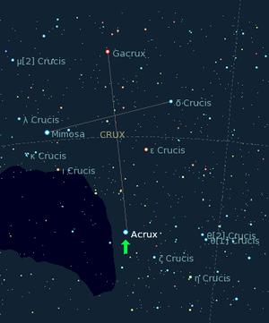 Alpha Crucis - Image: Acrux kstars