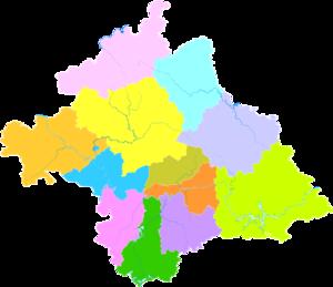 Nanning - Image: Administrative Division Nanning